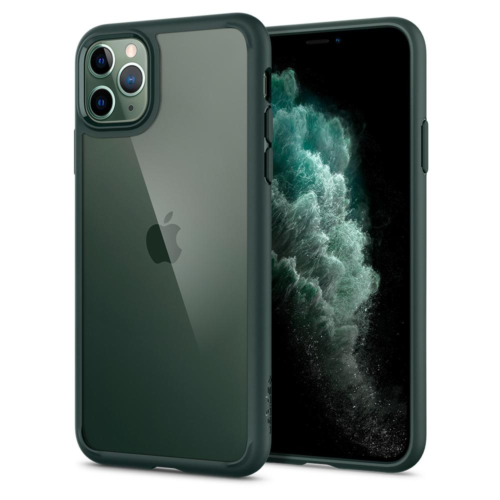 Ultra Hybrid	Case	MidnightGreen	back design and a front view of the edge around the	iPhone 11 PRO MAX	device.
