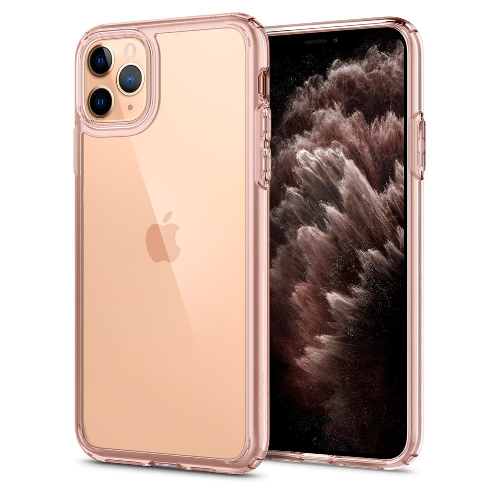 Ultra Hybrid	Case	RoseCrystal	back design and a front view of the edge around the	iPhone 11 Pro	device.