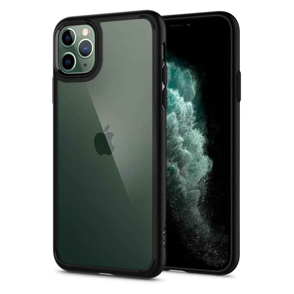 Ultra Hybrid	Case	MatteBlack	back design and a front view of the edge around the	iPhone 11 PRO MAX	device.