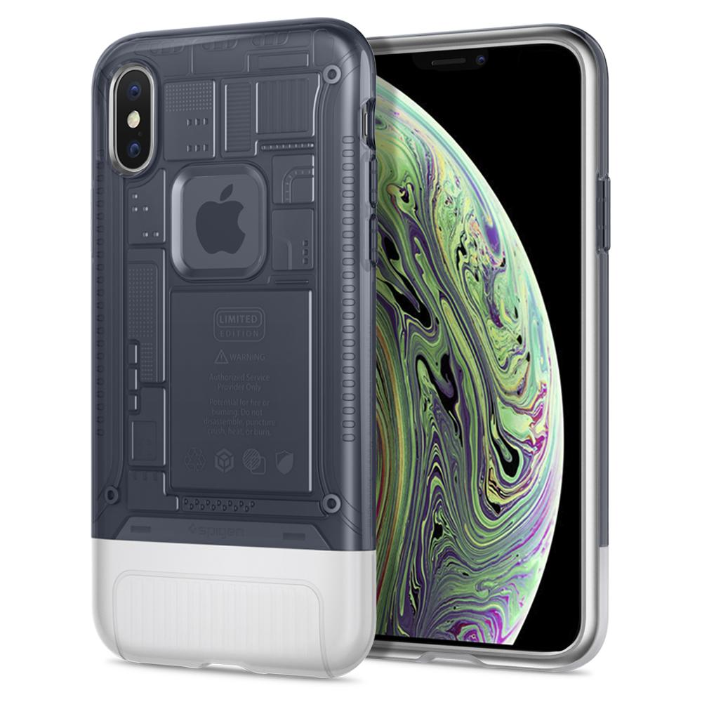 (Premium) Classic C1	Graphite	Case	back design and a front view of the edge around the	iPhone X	device.