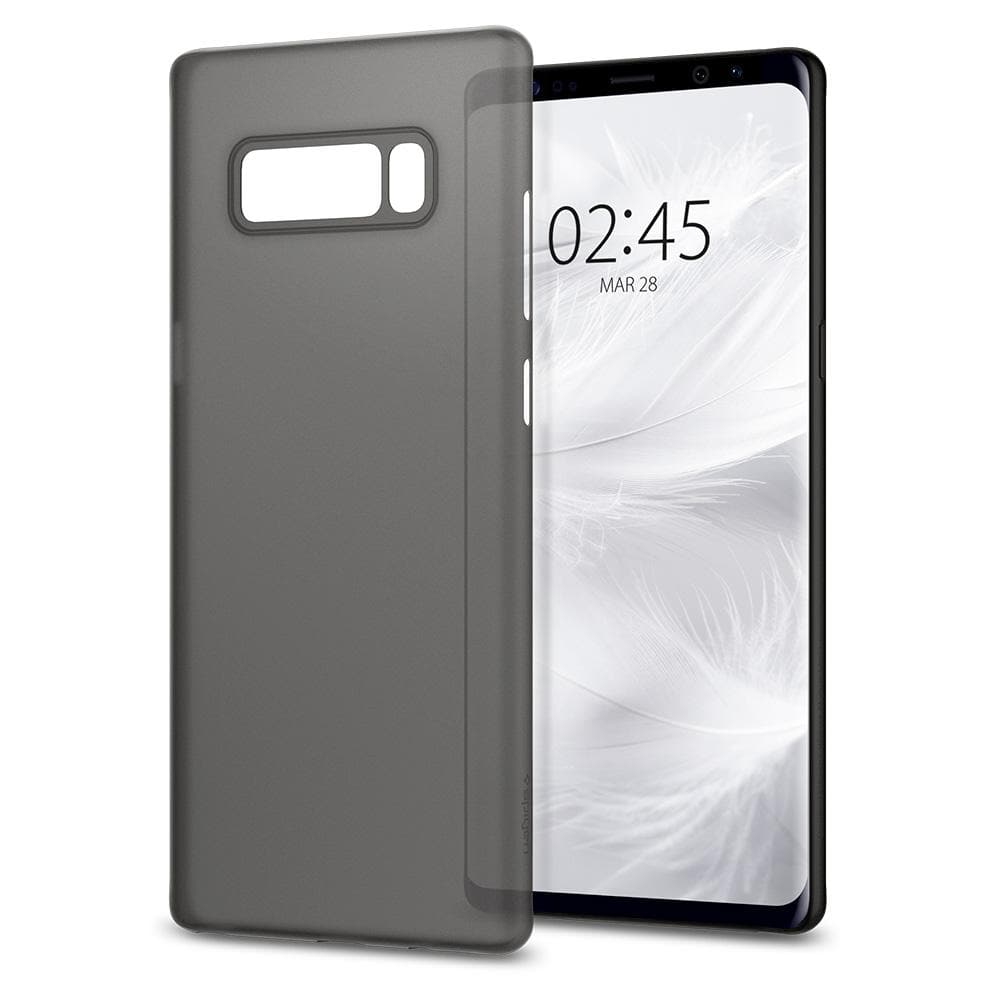 Air Skin	Black	Case	back design and a front view of the edge around the	Galaxy Note 8	device.