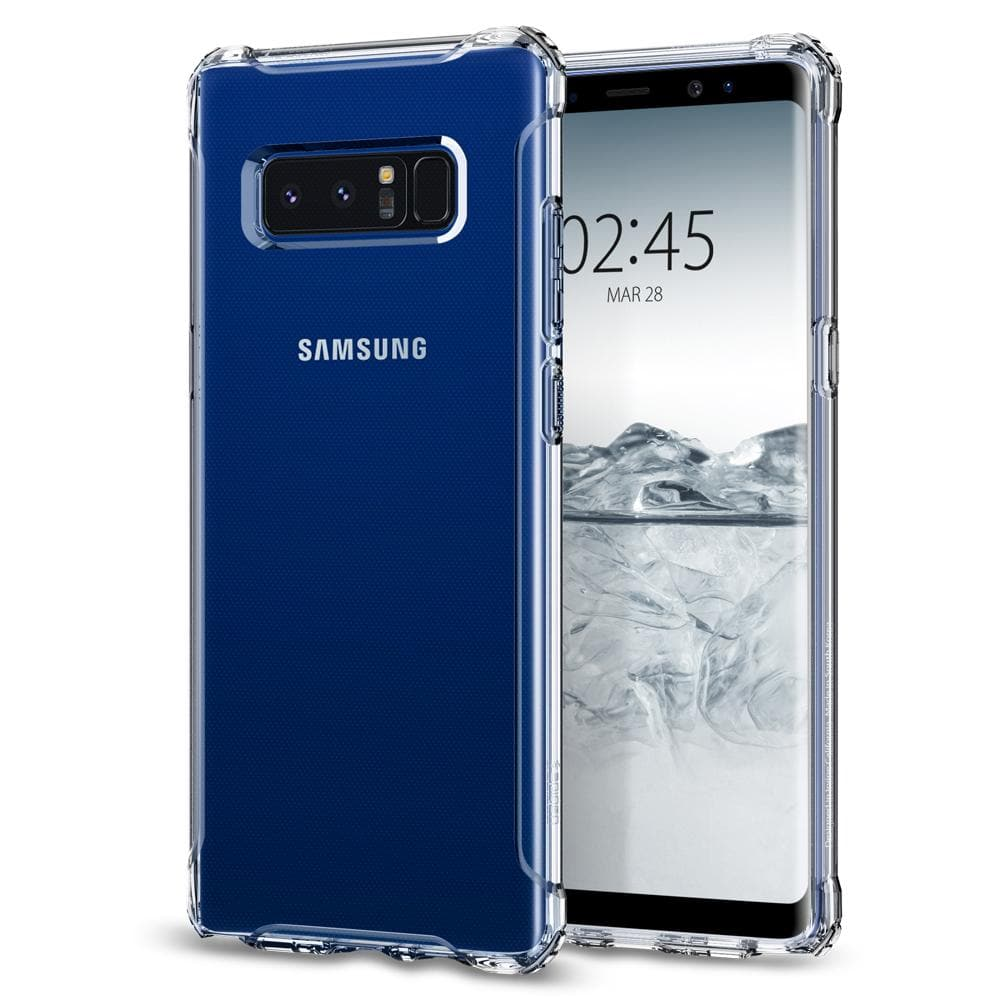 Rugged Crystal	Crystal Clear	Case	back design and a front view of the edge around the	Galaxy Note 8	device.