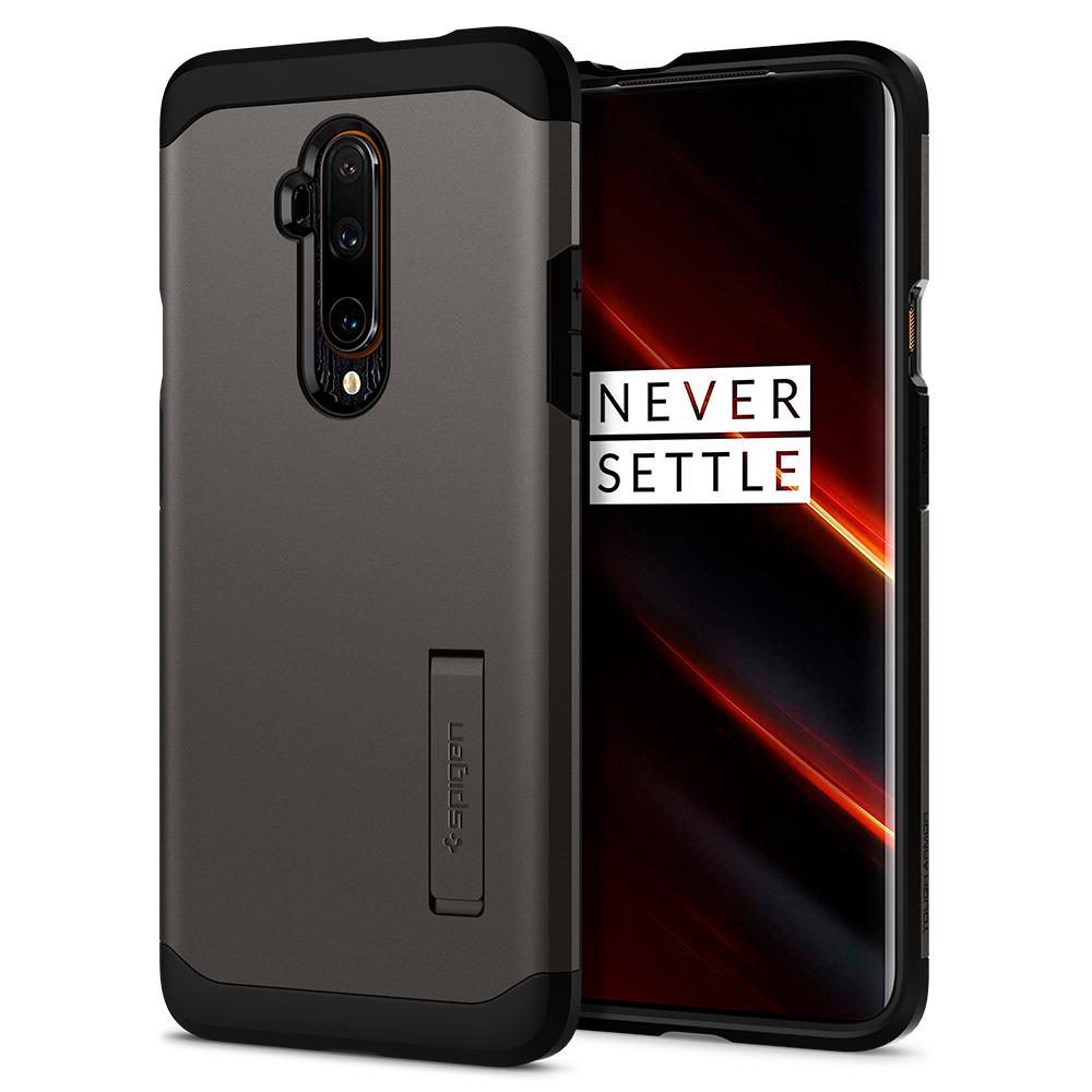Tough Armor	Gunmetal	Case	back design and a front view of the edge around the	OnePlus 7T Pro	device.