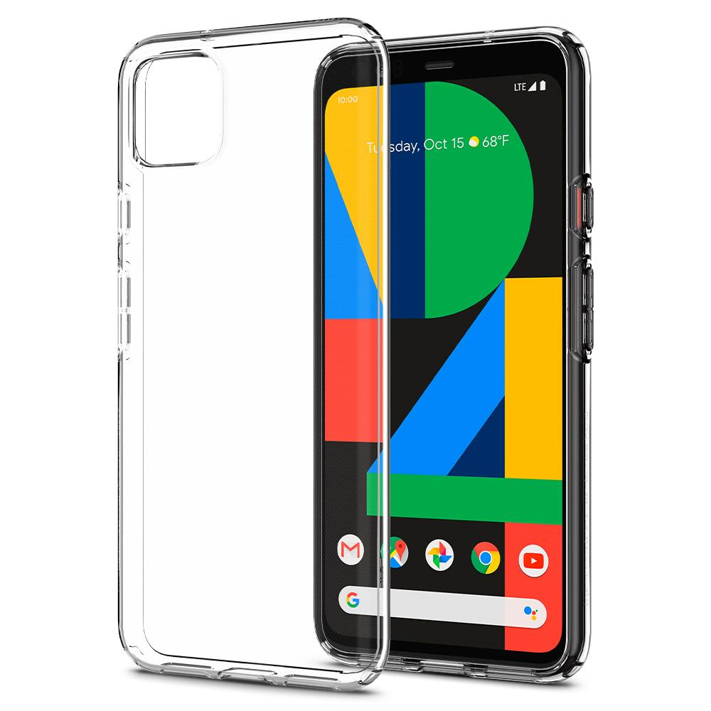 Liquid Air	Matte Black	Case	back design and a front view of the edge around the	Pixel 4XL	device.