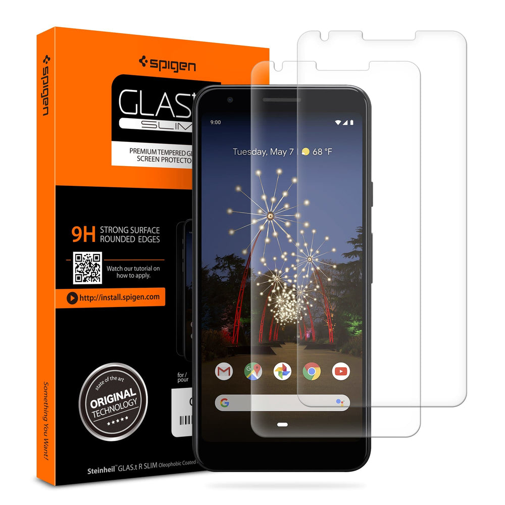 Google Pixel 3a Screen Protector GLAS.tR SLIM [2 Pack]