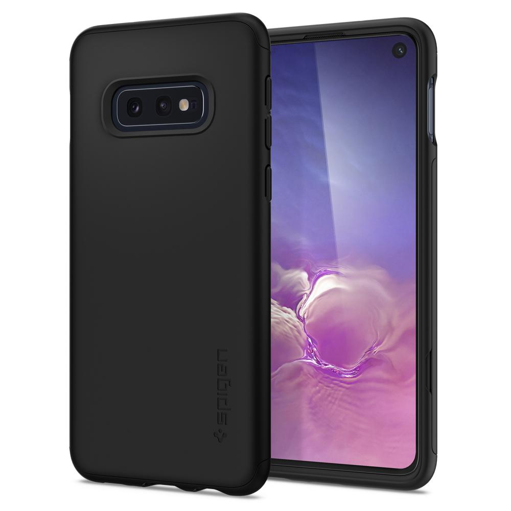 Thin Fit 360	Black	Case	back design and a front view of the edge around the	Galaxy S10e	device.