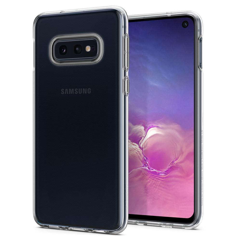 Liquid Crystal	Crystal Clear	Case	back design and a front view of the edge around the	Galaxy S10e	device.