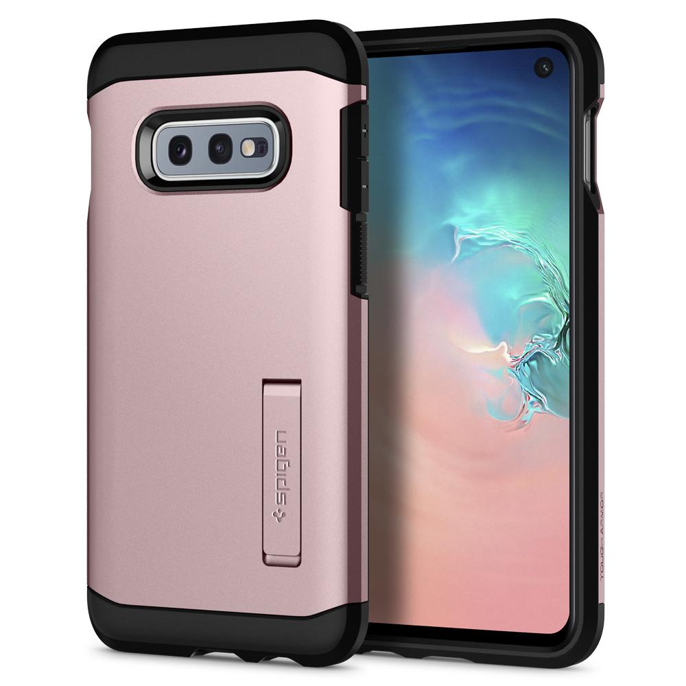 Tough Armor	Rose Gold Case	back design and a front view of the edge around the	Galaxy S10e	device.