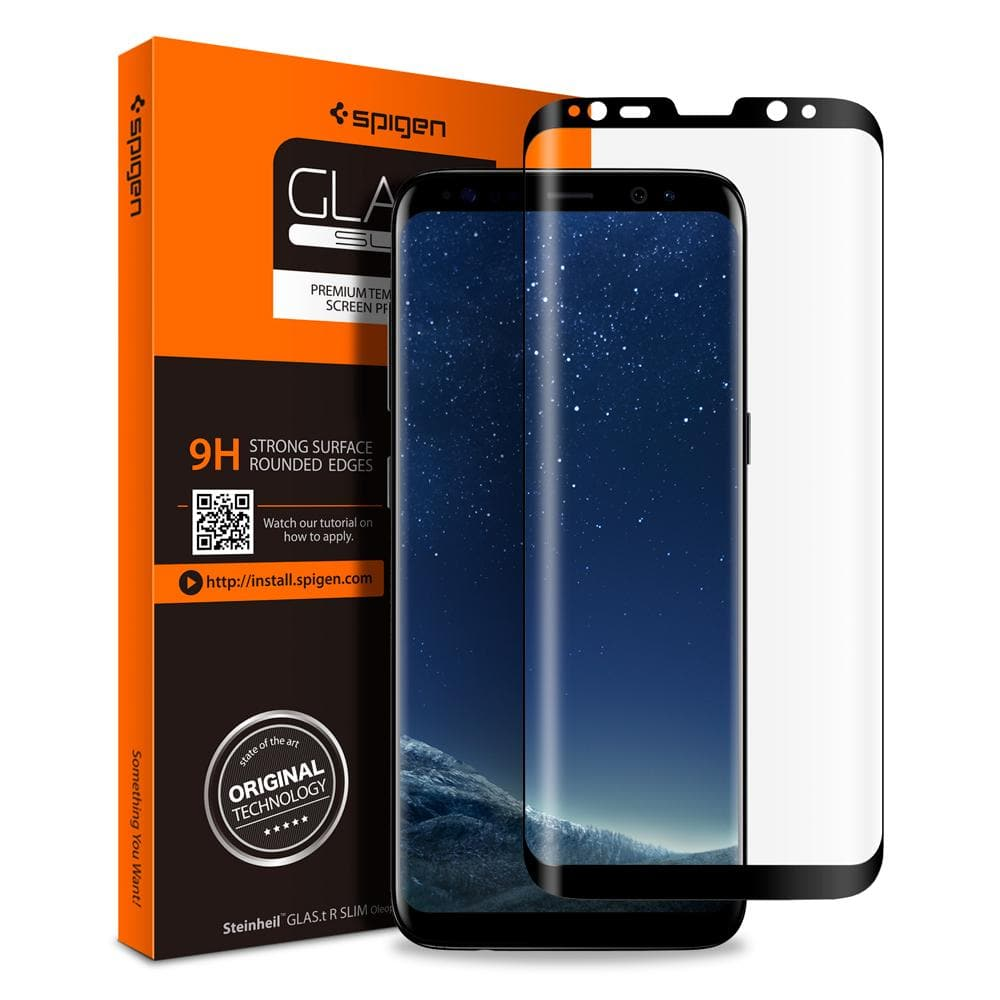 pretty nice cfb0a e9b2b Galaxy S8 Plus Screen Protector GLAS.tR Full Cover Glass