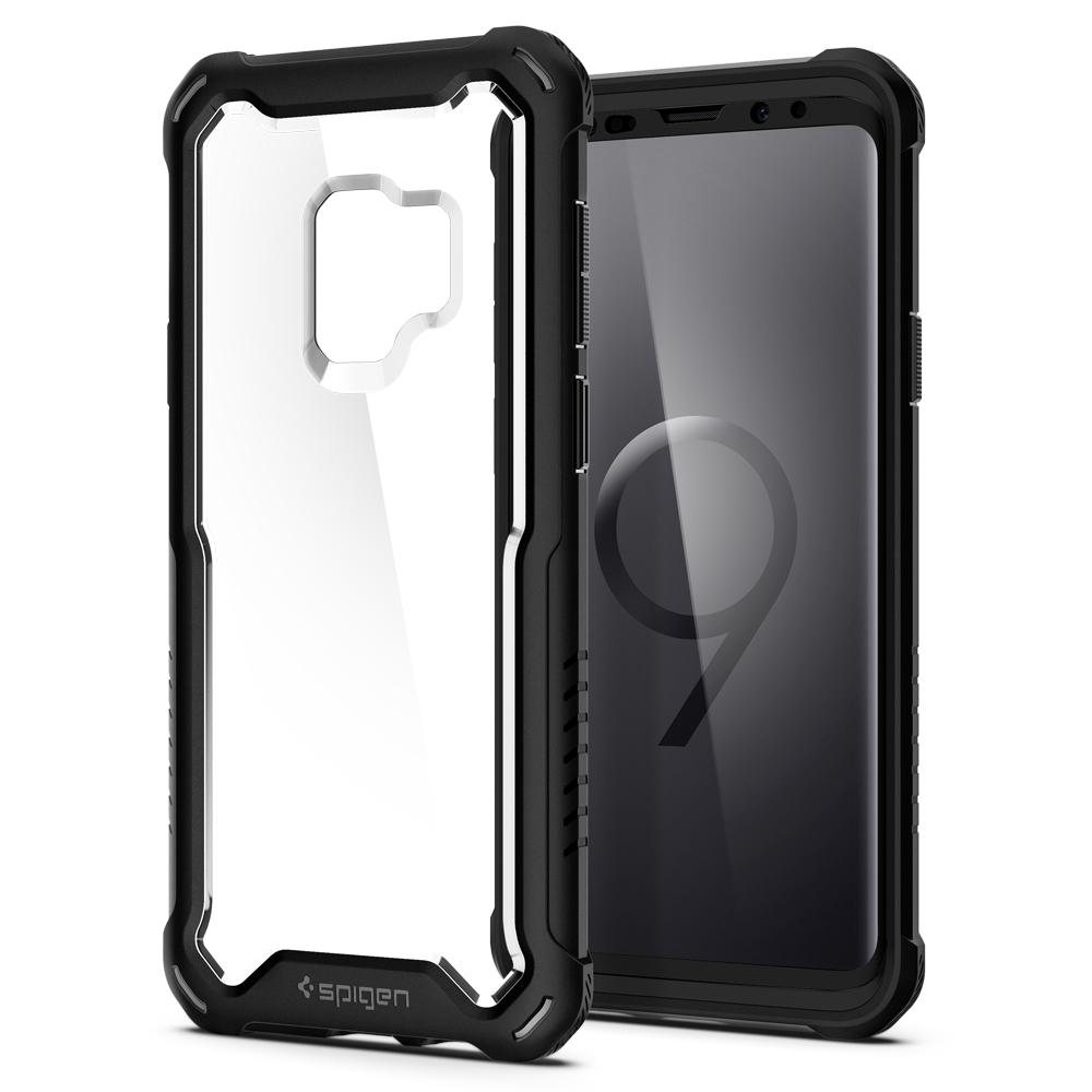 Hybrid 360	Black	Case	back design and a front view of the edge around the	Galaxy S9	device.