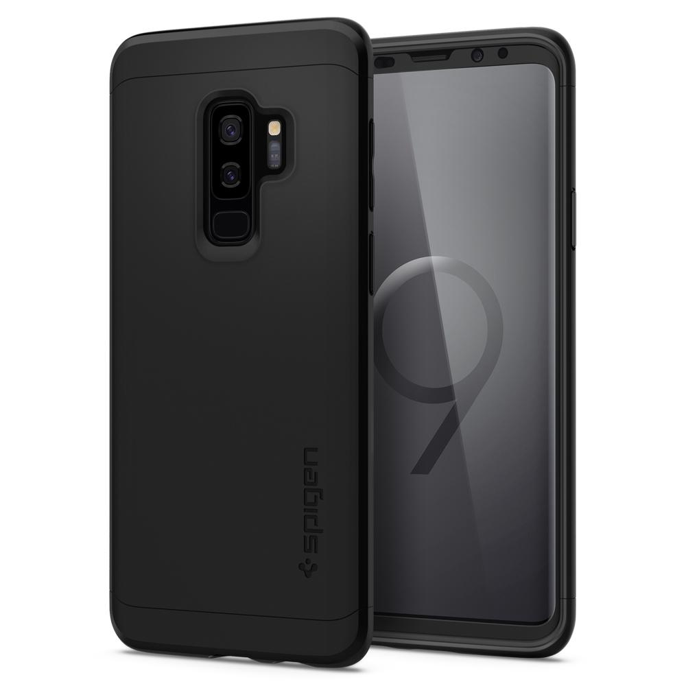Thin Fit 360	Black	Case	back design and a front view of the edge around the	Galaxy S9+	device.