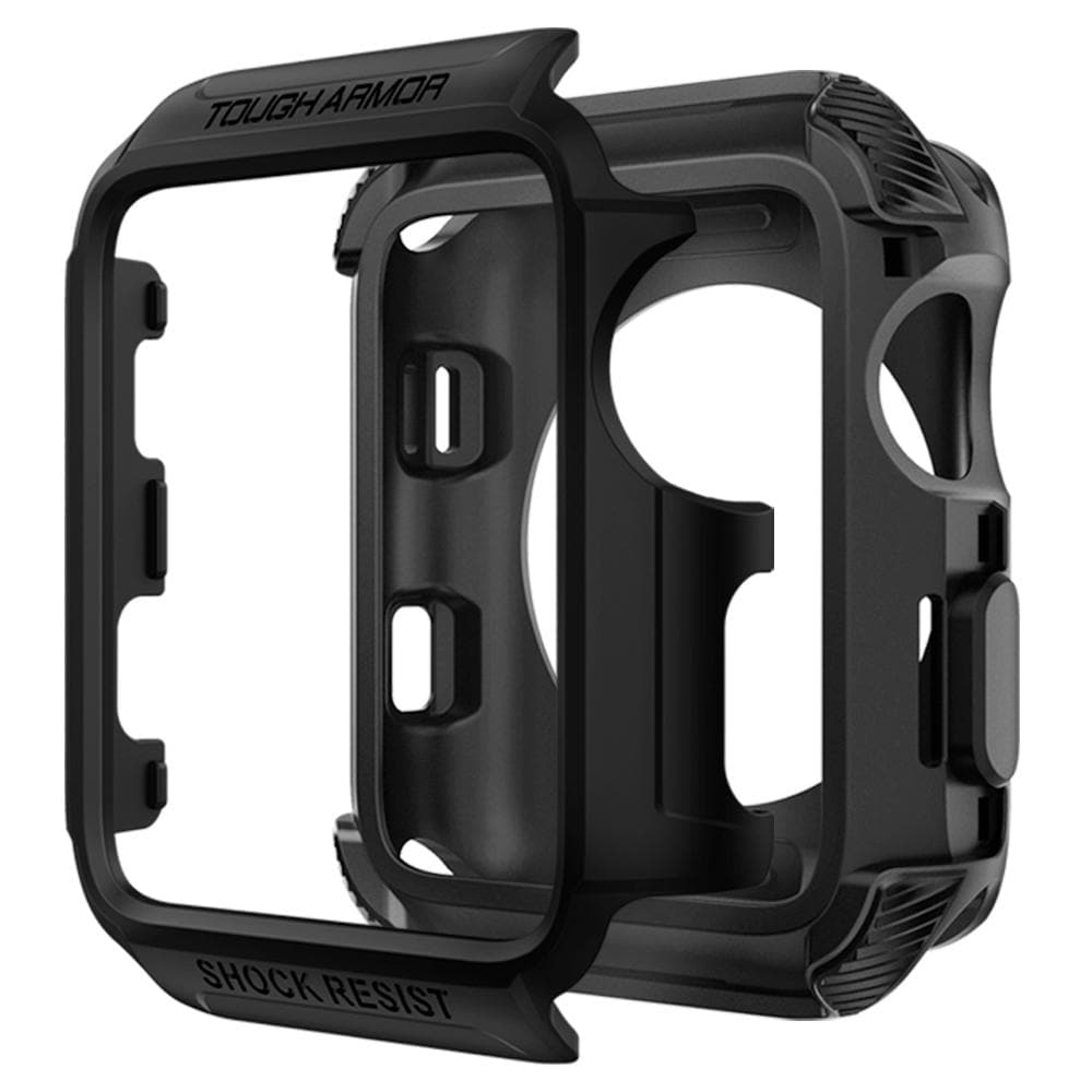 Tough Armor 2	Matte Black	Case	separated showing the outer PC layer, the inner TPU layer