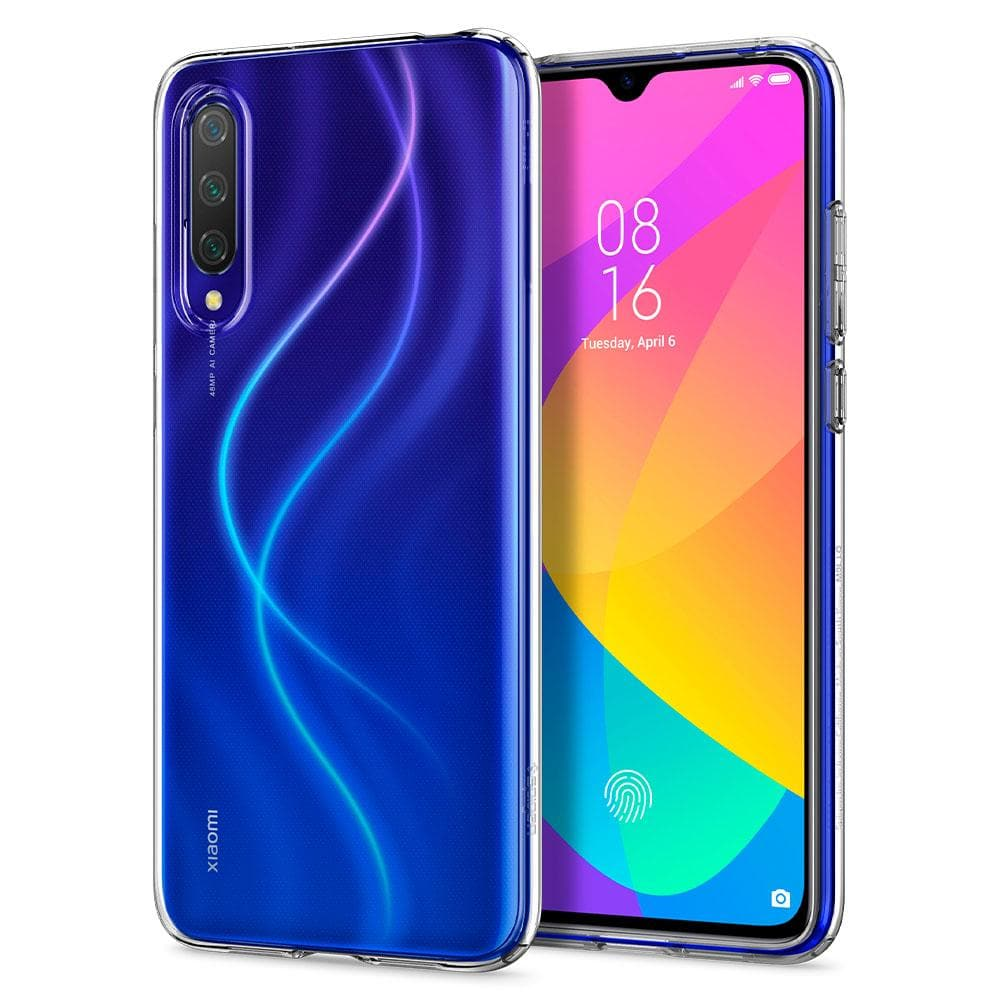 Liquid Crystal	Crystal Clear	Case	back design and a front view of the edge around the	Mi 9 Lite	device.