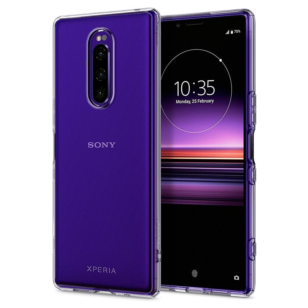 Liquid Crystal	Crystal Clear	Case	back design and a front view of the edge around the	Xperia 1	device.