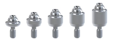 Biomet-3i® External® compatible straight multi-unit abutments