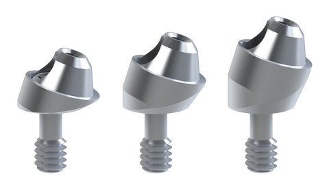 Biomet-3i® External® compatible 17º Angled multi-unit abutments