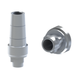 Nobel® Replace® compatible straight titanium abutment