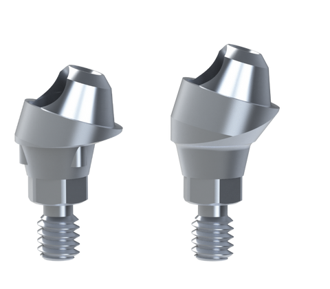Nobel® Active® compatible 17º angled multi-unit abutments
