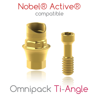 Nobel® Active® compatible Omnipack Ti-Angle
