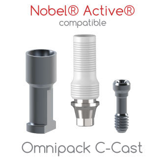 Nobel® Active® compatible Omnipack C-Cast