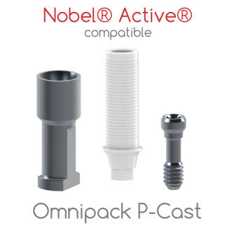Nobel® Active® compatible Omnipack P-Cast