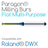 Roland® DWX Flat-Ended, Multi-Purpose Paragon Burs