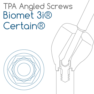Biomet 3i® Certain® compatible TPA Screw for angled screw channels