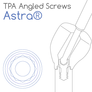 Astra® TX® compatible TPA Screw for angled screw channels