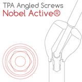 Nobel® Active® compatible TPA Screw for angled screw channels