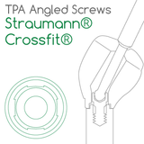 Straumann® Crossfit® compatible TPA Screw for angled screw channels