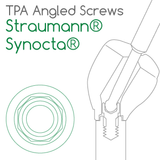 Straumann® Synocta® compatible TPA Screw for angled screw channels
