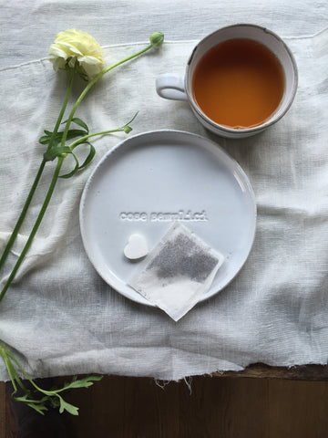 "Piatto DESSERT PLATE ""cose semplici/SIMPLE THINGS"""