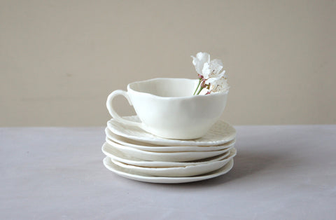 handmade porcelain espresso cup, each piece is unique
