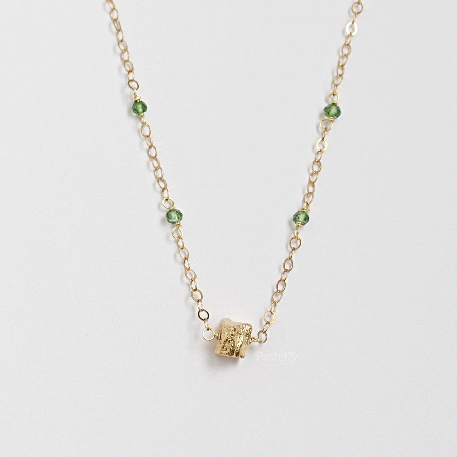 Green Topaz Necklace