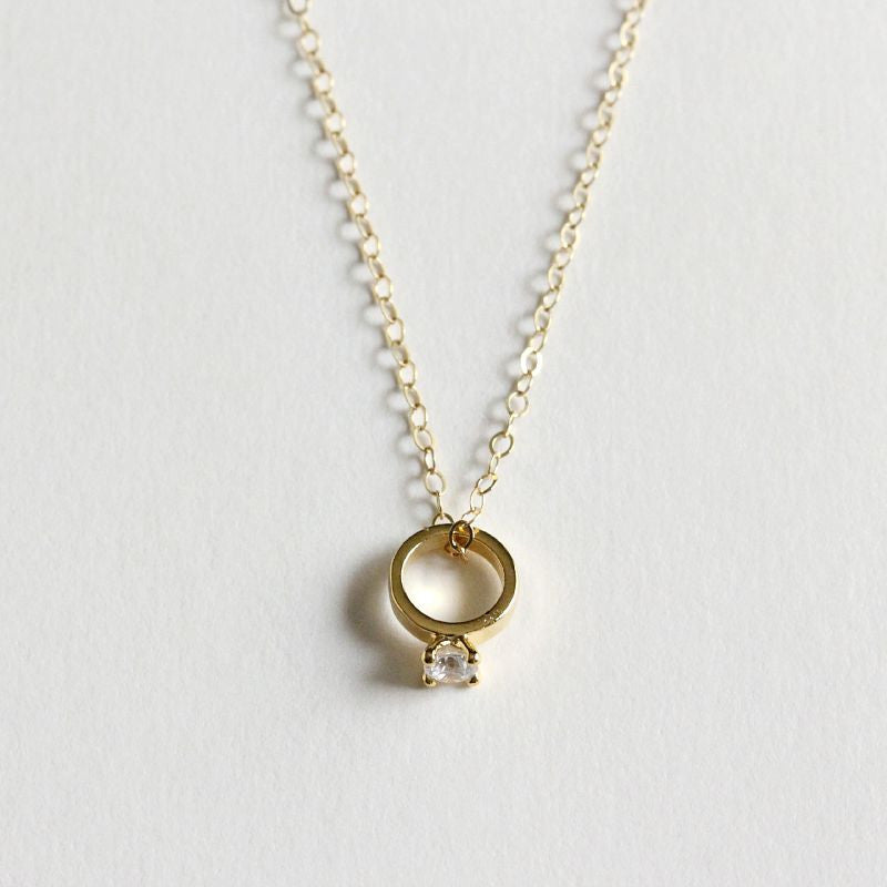 Solitaire Ring Necklace
