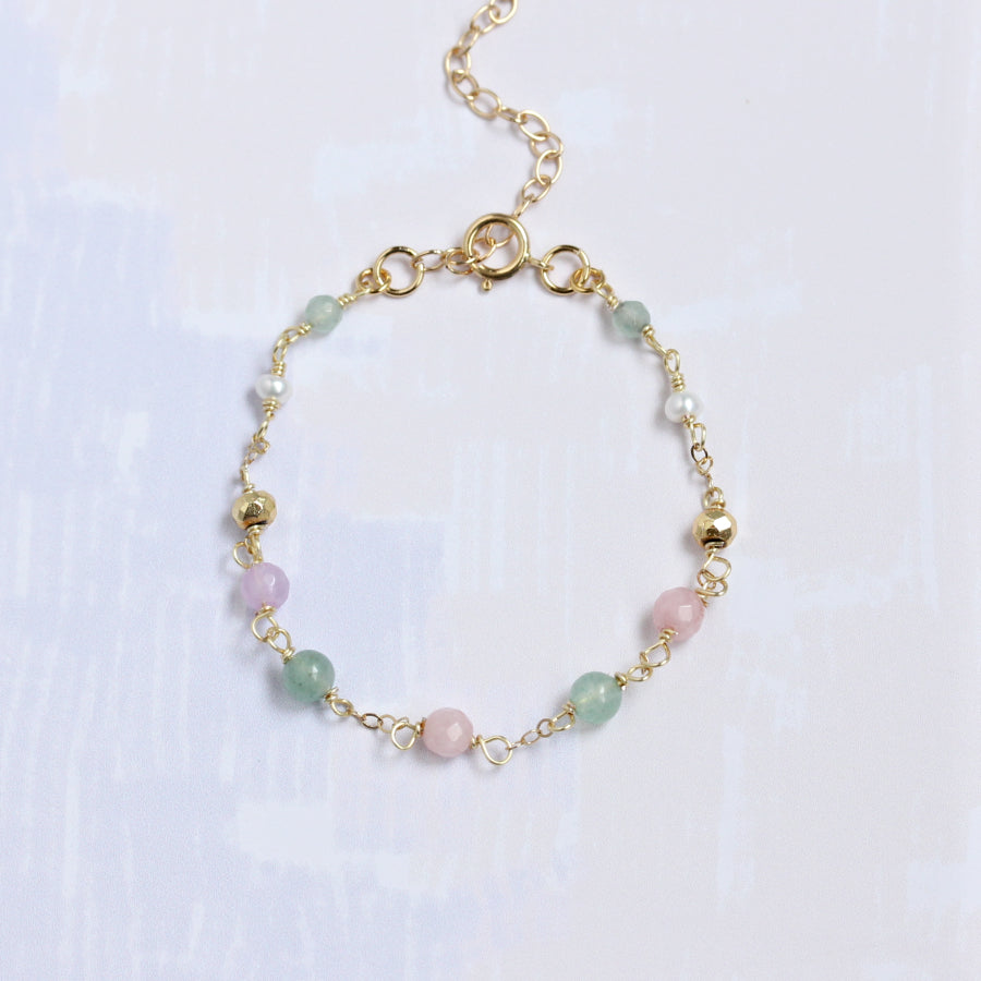 Pastel-Colored Gemstones Bracelet
