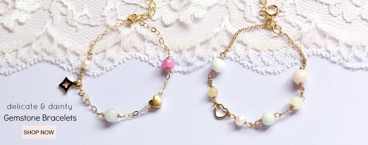 bracelets gemstone gold