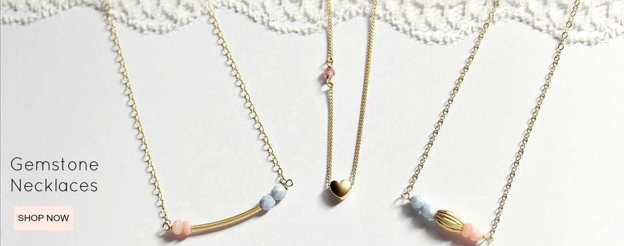 gemstone pink moonstone necklace