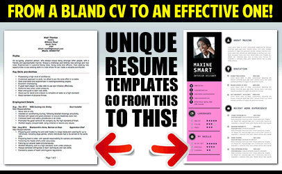 unique resume template designs as unique as you resumes that stick out always end up on top of the pile select your ideal design to suit you and your - Unique Resumes