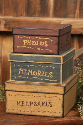 Nesting Boxes-Photos, Memories & Keepsakes