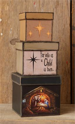 Nesting Boxes-Nativity