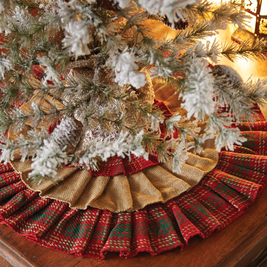 Burlap & Plaid Mini Tree Skirt