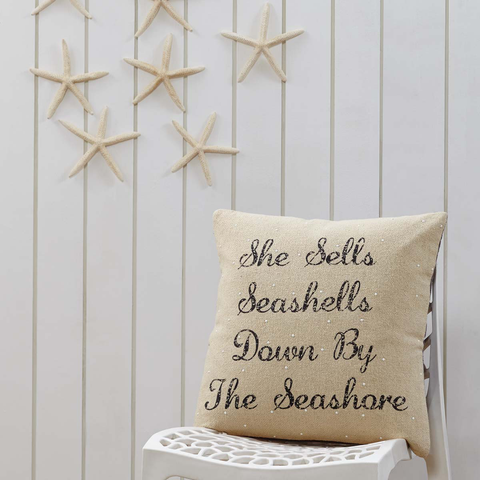 She Sells Seashells Pillow