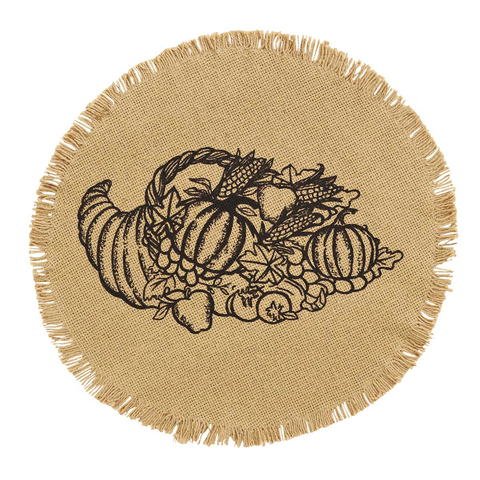 Cornucopia Placemat - Set of Six