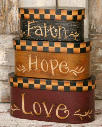 Nesting Boxes- Faith Hope Love