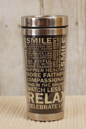 Travel Mug - Smile Inspirational Words