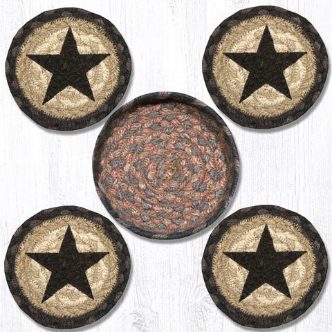 Black Star Coaster Set