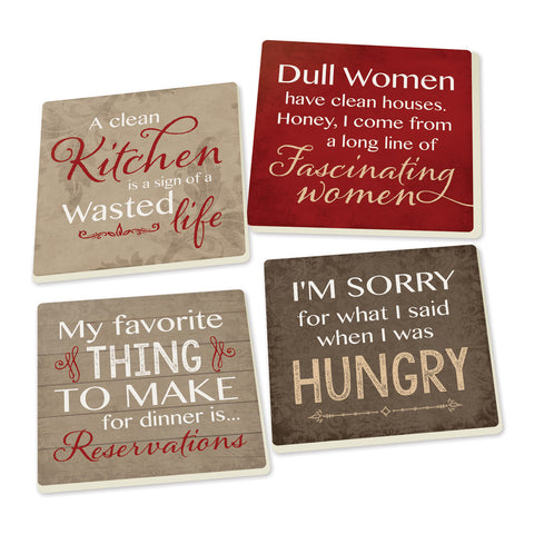 Coaster Set-Kitchen Humor