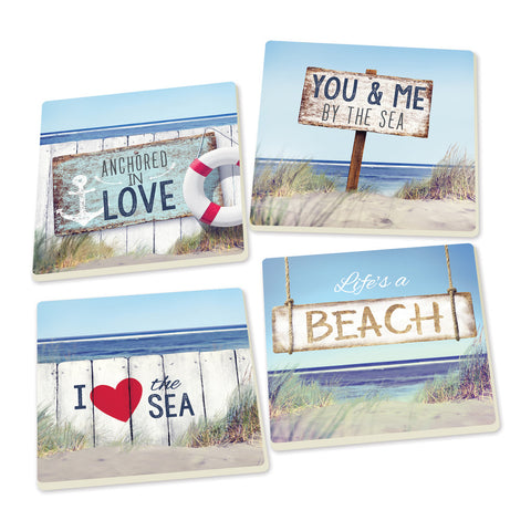 Coaster Set-Anchored by Love