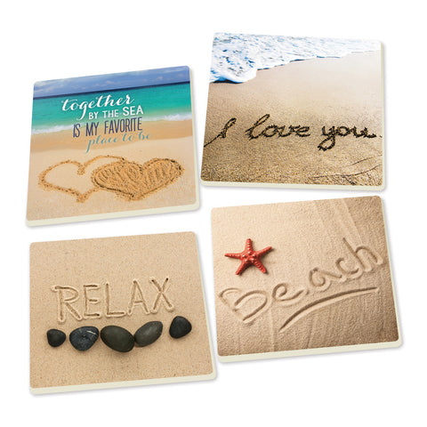 Coaster Set-Beach Writings